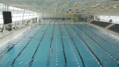 Indoor Swimming Bath Tilt (Cinestyle) Stock Footage