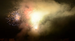 Detonating fireworks (firecrackers) to celebrate the new year - stock footage