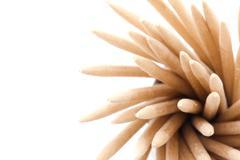 Toothpick macro Stock Photos