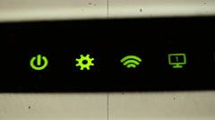 Ancient Wi-Fi Router Stock Footage