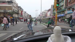 Old Delhi traffic and Guru Nanak - stock footage