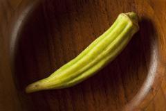 organic green okra vegetable - stock photo