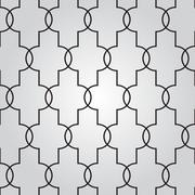 Abstract geometric background with techno ornament Stock Illustration