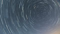 North Star trails dissapear HD Stock Footage