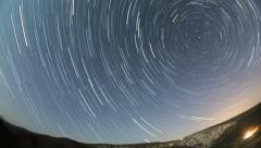 Star trails dissapear HD Stock Footage