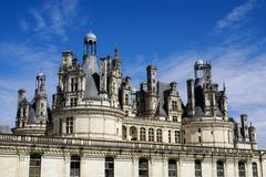 Chambord castle is located in loir-et-cher, france. it has a very distinct fr Stock Photos