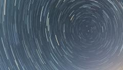 North star Star trails dissapear cinema 4K Stock Footage