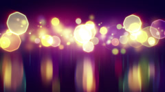 Shiny bokeh lights with reflections loop background Stock Footage