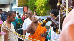 Handheld January Hindu Hindus Buddhist Holi-Festival parade Melaka Malacca Stock Footage
