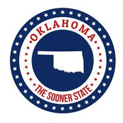 Oklahoma stamp Stock Illustration