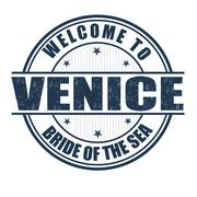 Welcome to venice stamp Stock Illustration