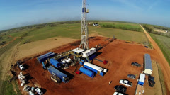 Drilling Rig Aerial - stock footage