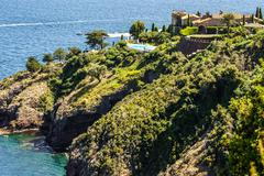 pretty house in antibes. antibes is a resort town in the alps-maritimes depar - stock photo