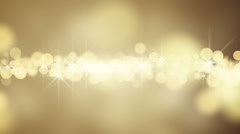 gold circle bokeh lights loop background - stock footage