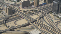 Dubai highway junction Stock Footage