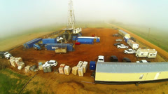 Drilling Rig Aerial Stock Footage