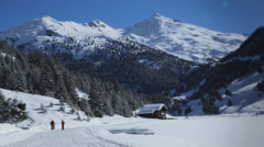 Nordic ski Stock Footage