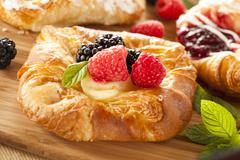 homemade gourmet danish pastry - stock photo