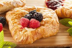 homemade gourmet danish pastry - stock photo