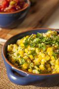 Homemade organic mexican corn dish Stock Photos
