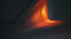 Blinking broken fluorescent lamp sequence Stock Footage