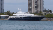 Stock Video Footage of mega yacht super yacht luxury ship Sycara V