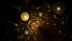 Golden Stars, Balls And Ribbons Stock Footage
