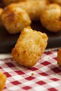 Organic fried tater tots Stock Photos