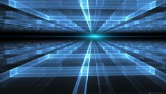 Blue Geometrical  Horizon  With Rays Of Light Stock Footage
