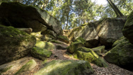 Stock Video Footage of shadows in the canyon Brunnenklinge