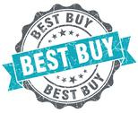 Stock Illustration of best buy blue grunge retro style isolated seal