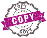 Stock Illustration of copy violet grunge retro style isolated seal