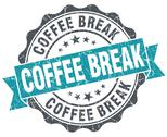 Stock Illustration of coffee break blue grunge retro style isolated seal