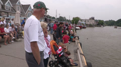 Canada day boat parade in Port Dover Stock Footage