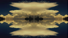Kaleidoscopic (quadroscopic) Nimbis cloud timelapse animation Stock Footage