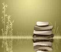 zen stones - stock illustration