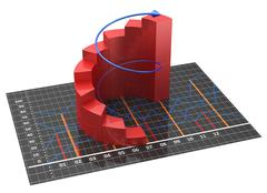 chart and graphs - stock illustration