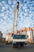 Mobile crane Stock Photos