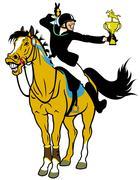 Rider winner Stock Illustration