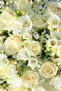 white wedding arrangement - stock photo