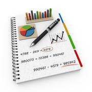 Notebook accounting concept Stock Illustration