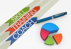 skill training concept - stock illustration