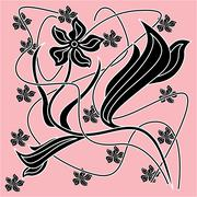 Abstract decorative flower ornament Stock Illustration