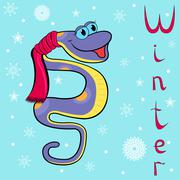 Why is it so cold in winter boa? Stock Illustration