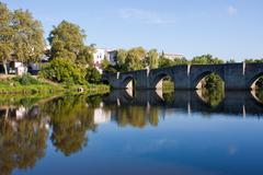 Quays of Limoges - stock photo