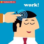 wake up and work, office weekdays - stock illustration