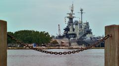 Battleship USS Wilmington Stock Footage