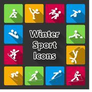 Winter sports iconset Stock Illustration