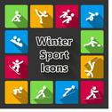 Stock Illustration of winter sports iconset