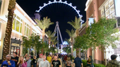 The Linq - new shopping center, High Roller, Las Vegas Strip. - stock footage